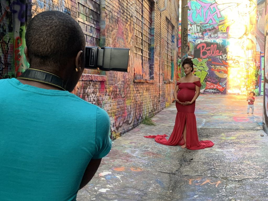 The Melanin Bump Photoshoot in Graffiti Alley in Baltimore Maryland