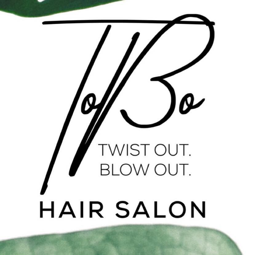 ToBo Twist Out Blow Out Hair Salon Logo Dominiece Clifton