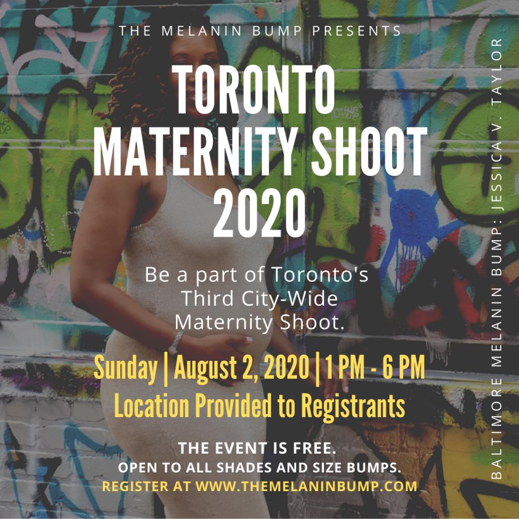 Toronto's Third Maternity Shoot Happening on Sunday August 2nd 2020